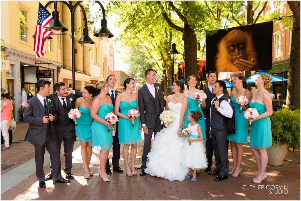 Downtown Charlottesville, Virginia Wedding - Omni Reception