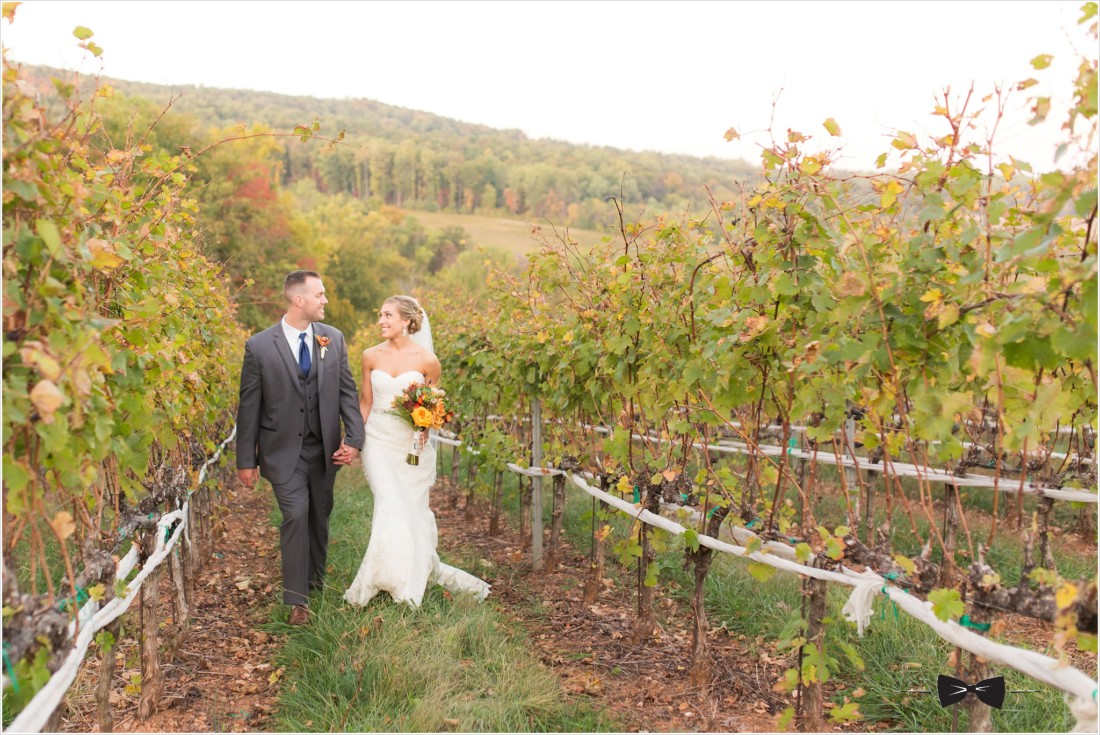 Trump Winery Fall Wedding Charlottesville Virginia